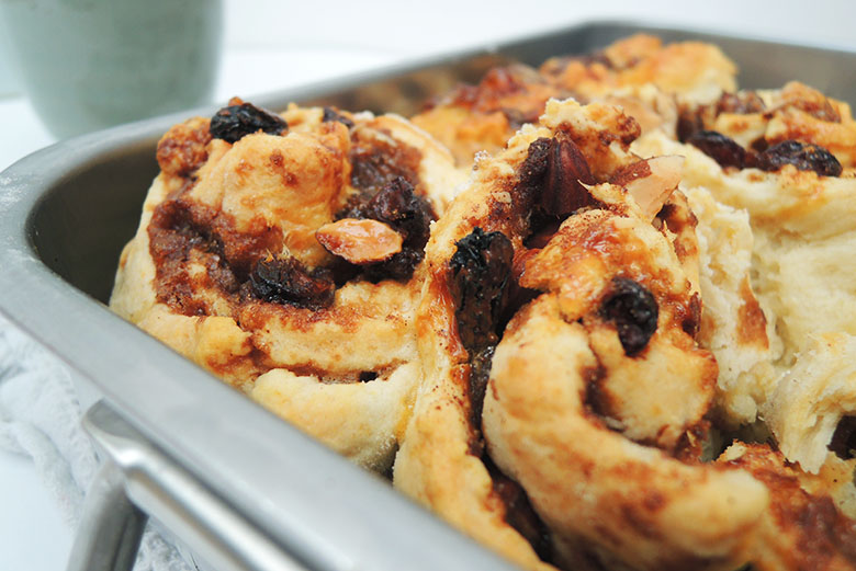 6 Sticky Cinnamon Scones